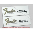 1965-1966 Fender Jaguar Waterslide Headstock Decals