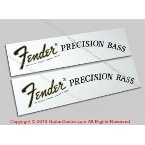 1968-1976 Fender Precision Bass Waterslide Headstock Decals
