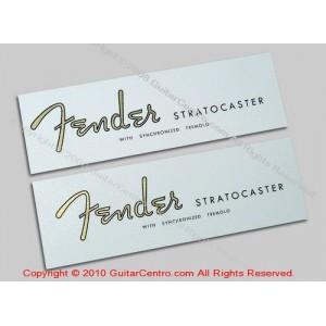 1954-1960 Fender Stratocaster Waterslide Headstock Decals