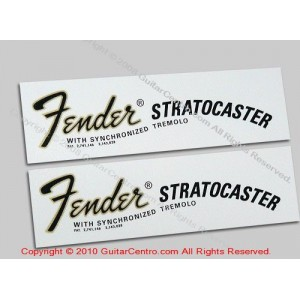 1968-1970 Fender Stratocaster Waterslide Headstock Decals