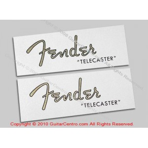 1950's Fender Telecaster Waterslide Headstock Decals